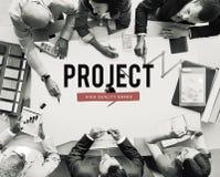 Projekt-Fortschritts-Geschäfts-Verwaltungsplan-Konzept Stockbilder