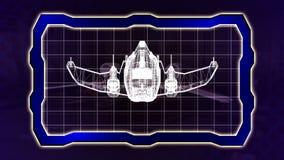 Projekt futurystycznego statku kosmicznego bezszwowa pętla royalty ilustracja