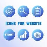 Projekt ikony dla strony internetowej Fotografia Royalty Free