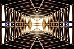 Projekt jednakowy statku kosmicznego wnętrze metal struktura, perspec Zdjęcia Royalty Free