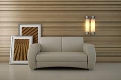 projekt kanapa wewnętrzna nowożytna izbowa Obrazy Stock