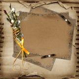 projekt karciana kartonowa wierzba Obrazy Stock