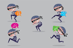 Projekt kradzież ilustracja wektor