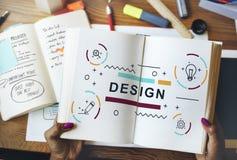 Projekt Kreatywnie wyobraźni pomysłów grafiki pojęcie Obraz Royalty Free
