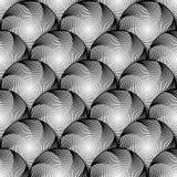 Projekt kurendy bezszwowy monochromatyczny wzór Fotografia Stock