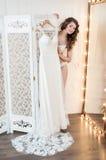 Projekt ślubna suknia Zdjęcia Royalty Free