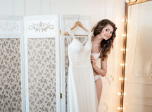Projekt ślubna suknia Obraz Royalty Free