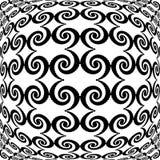 Projekt monochromatycznej wichrowatej siatki dekoracyjny wzór Obrazy Stock