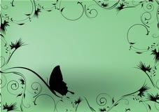 projekt motylia dekoracyjna zieleń Zdjęcia Royalty Free