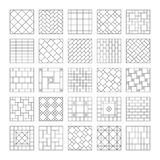 Projekt mozaika i Skład płytka, mozaika na ścianie na podłoga lub Geometryczny ornamentacyjny Set Zdjęcie Stock