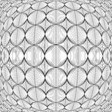 Projekt pakował monochromatycznego okrąg linii wzór Zdjęcia Stock