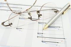 Projekt-Plan Stockfoto