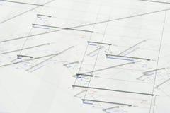 Projekt-Plan Lizenzfreies Stockbild