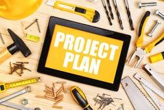 Projekt-Plan für Hauptinnenrenovierung Stockfotografie