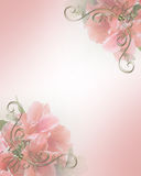 projekt różowe kwiecisty zaproszenie na ślub Zdjęcia Royalty Free