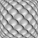 Projekt siatki sfery monochromatyczny wichrowaty wzór Zdjęcia Royalty Free