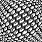 Projekt siatki sześciokąta monochromatyczny wichrowaty wzór Zdjęcia Stock