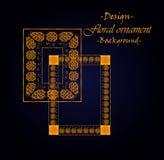 Projekt struktura na podstawie kwiecistego ornamentu Zdjęcia Royalty Free