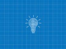 Projekt Tylko żarówki lampa ilustracji