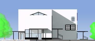Projekt von moderne öffentliche Gebäude Lizenzfreie Stockfotos