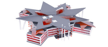 Projekt von moderne öffentliche Gebäude Lizenzfreies Stockbild