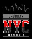 Projekt wektorowej typografii Brooklyn York nowy miasto ilustracja wektor