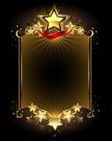 Projekt z pięć gwiazdami royalty ilustracja