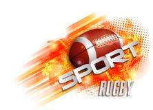 Projekt z rugby piłką Obraz Royalty Free