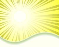 Projekt z słońce promieniami Obrazy Royalty Free