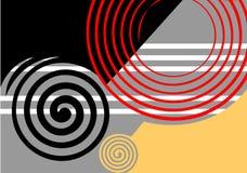 projekta abstrakcjonistyczny czarny grey Obrazy Stock