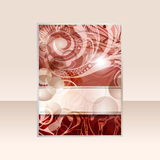 projekta abstrakcjonistyczny flayer Fotografia Royalty Free