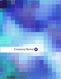 projekta abstrakcjonistyczny pusty letterhead Zdjęcie Stock