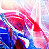Projekta abstrakta jaskrawy super stubarwna akwarela falista royalty ilustracja
