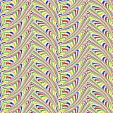 Projekta bezszwowy kolorowy zygzakowaty geometryczny wzór Fotografia Royalty Free