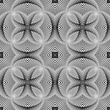 Projekta bezszwowy monochrom paskujący wzór Zdjęcie Royalty Free