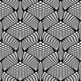 Projekta bezszwowy monochrom sprawdzać wzór Fotografia Royalty Free