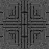 Projekta bezszwowy monochromatyczny geometryczny wzór Zdjęcie Stock