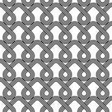 Projekta bezszwowy monochromatyczny geometryczny wzór Zdjęcia Stock