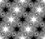 Projekta bezszwowy monochromatyczny gwiazdowy wzór Zdjęcie Royalty Free