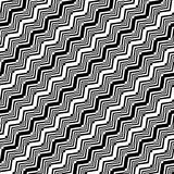 Projekta bezszwowy monochromatyczny zygzakowaty wzór Obraz Stock