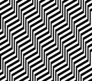 Projekta bezszwowy monochromatyczny zygzakowaty wzór royalty ilustracja