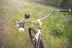 Projekta bicyklu trąbka i rama Zdjęcia Royalty Free