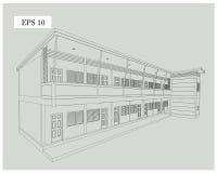 Projekta budynek mieszkaniowy royalty ilustracja