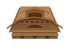 Projekta budynku rynku westernu ilustracja royalty ilustracja