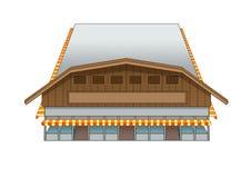 Projekta budynku rynku westernu ilustracja ilustracja wektor
