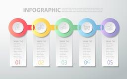 Projekta czysty infographic szablon może używać dla obieg układu, diagram Fotografia Stock