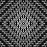 Projekta diamentu bezszwowy monochrom przeplatający wzór ilustracja wektor