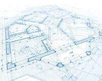 projekta domu plan Zdjęcie Royalty Free