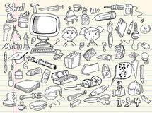 projekta doodle elementów nakreślenie Fotografia Stock