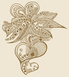 projekta doodle serca henna Zdjęcie Royalty Free